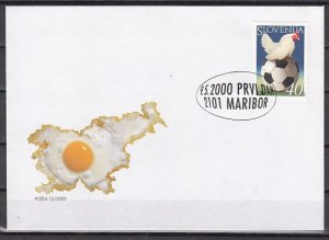Slovenia, Scott cat. 402. Chicken on Soccer Ball issue. First day cover. ^