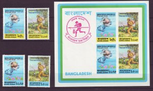 Z703 JLstamps 1974 bangladesh set + s/s mnh #65-8a upu $81.55 scv