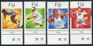 Fiji 825-828,MNH.Mi 855-858. Commonwealth Games,Malaysia-1998.Athletics,Javelin,