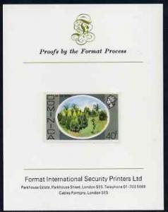 Dominica 1975-78 Bay Leaf Groves 40c imperf proof mounted...