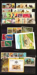 Wildlife MNH stamp complete Djibouti Tunisia Bulgaria Israel WWF Camel horse cat