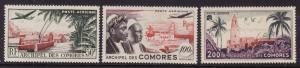 Comoro Islands #C1-3 F-VF Mint LH *