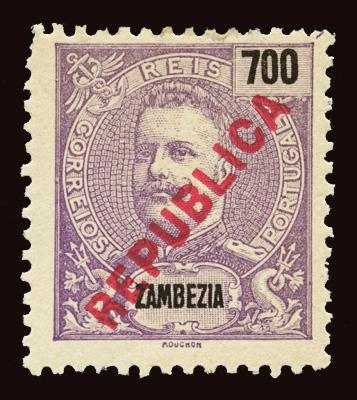 ZAMBEZIA Scott #107 1917 King Carlos unused OG LH