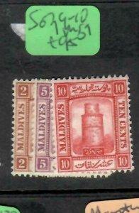 MALDIVE ISLANDS  (P1405B)   SG 7, 9-10   MOG