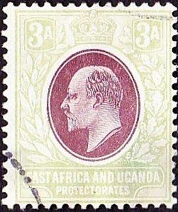 EAST AFRICA & UGANDA 1904 KEDVII 3a Brown-Purple & Green SG22 Fine Used