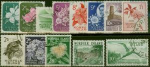 Norfolk Island 1960-62 set of 13 SG24-36 Superb Used