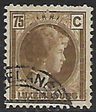 Luxembourg # 175 - Grand Duchesse Charlotte - 75ct - used...(KlGr)