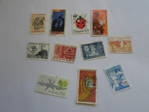 DENMARK STAMPS, LOT OF 10 STAMPS # 5