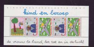Netherlands Sc B634a 1987 Professions stamp sheet NH