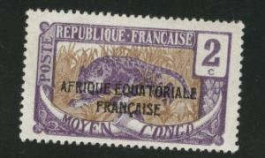 Moyen Middle Congo 1924 Scott 24 MH* stamp similar centering