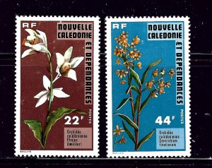 New Caledonia 425-26 MH 1977 Orchids