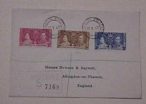 BECHUANALAND  KING GEORGE VI CORONATION 1937 MAY 12  MAEEKING REGISTERED FDC