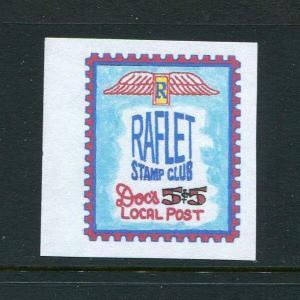 Doc's Local Post Raflet Stamp Club 1 5/8 x 1 5/8 MNH