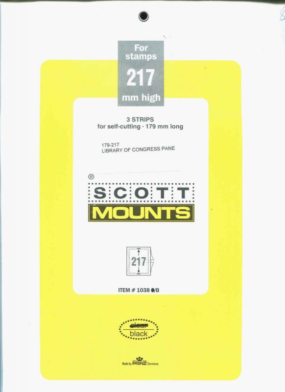Prinz Scott Stamp Mount  217 High  / 179 Long BLACK Background Pack of 3