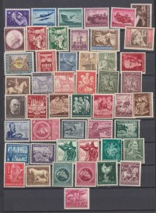 J29776, all different nazi germany mnh/mh most mh lot