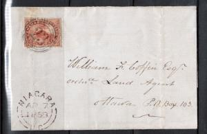 Canada #4 Used On Cover With Ideal 4 Ring 23 Niagara Cancel