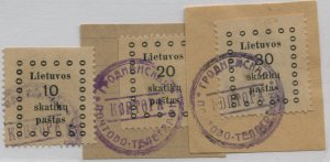 LITHUANIA  9//12   USED  RUSSIAN GRODNO CANCELS