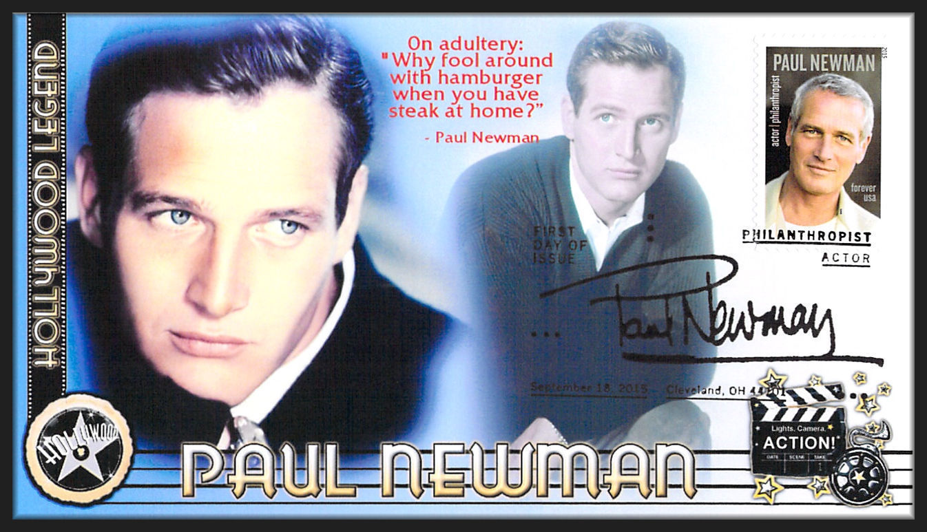 Paul Newman 5020 2015 Hollywood Icon FULL Cachet FDC P028