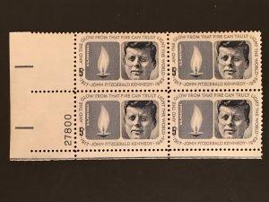Scott # 1246 John F. Kennedy Memorial, MNH Plate Block of 4