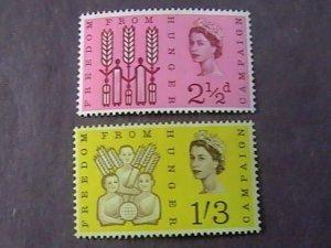 GREAT BRITAIN # 390p-391p--MINT NEVER/HINGED--COMPLETE SET--PHOSPHORUS--1963