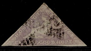 SOUTH AFRICA - Cape of Good Hope QV SG20, 6d bright mauve, USED. Cat £500.