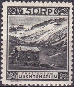 Liechtenstein  #102  F-VF Unused   CV $105.00 (Z3162)