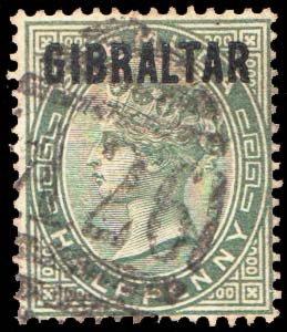 Gibraltar Scott 1 Used.