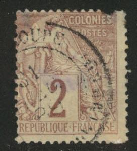 French Colonies Scott 47 Peace & Commerce isssue of 1881-86