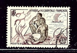 French West Africa 60 Used 1954 issue    (ap2704)