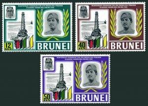 Brunei 153-155,MNH.Michel 145-147. Sultan Hassanal Bolkiah,Oil Rig,1969.