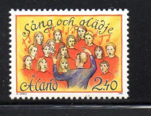 Aland Sc  128 1996 Song Festival stamp set mint NH