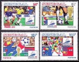 SENEGAL 1998 WORLD CUP FRANCE FIFA COUPE DU MONDE SOCCER FUSSBALL [#9809]