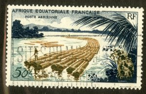 FRENCH EQUATORIAL AFRICA C39 USED BIN .80 LOGGING