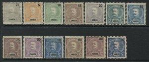 Zambezia 1898 various values to 300 reis unused no gum