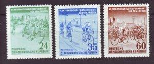 J22505 Jlstamps 1953 germany set mnh #148-50 bicycle race