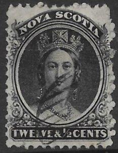 Nova Scotia 13  1860   12 1/2 cent   fine used