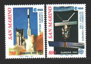 San Marino. 1991. 1465-66. Europe space. MNH.