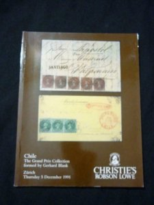 CHRISTIE'S LOWE AUCTION CATALOGUE 1991 CHILE 'GERHARD BLANK' COLLECTION