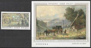 Poland 3320-1  MNH  Post & Telecommunications Museum