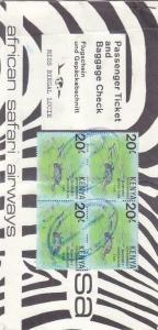Kenya: African Safari Airlines Passenger Ticket, See Remark (17748)