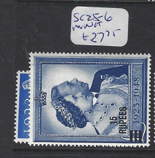 BRITISH P.O IN EASTERN ARABIA (P2402B) MUSCAT ON GB KGVI S.W. SG 25-6  MNH