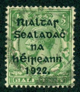 Ireland #19  Used  VF  Scott $25.00  Royalty
