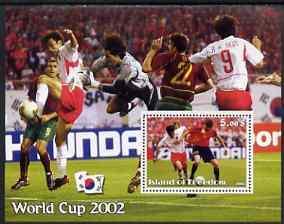 ISLAND OF FREEDOM SHEET WORLD CUP 2002 SOCCER FOOTBALL SPORT