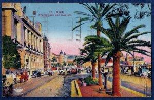 Post Card 1935 France Nice Promenade des Anglais The Grand Prix Auto of Nice