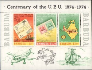 1974 Barbuda #169a, Complete Set, Souvenir Sheet Only, Never Hinged