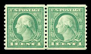 momen: US Stamps #452 Coil Pair MNH OG SUPERB PSE Cert