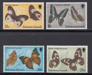 Solomon Islands Scott #461-464 MNH