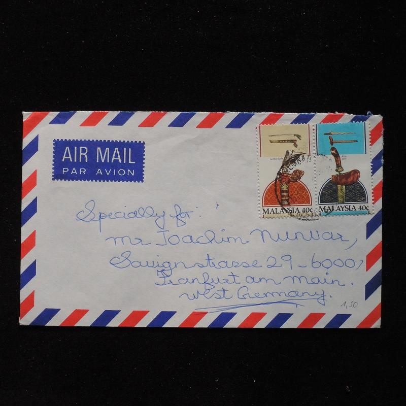 ZS-AC015 MALAYSIA - Folklore, Airmail From Serenbam To Frankfurt Germany Cover