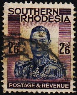Southern Rhodesia. 1937 2s6d S.G.51 Fine Used