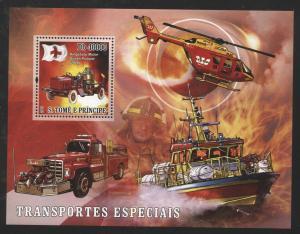 St Thomas 2007 Firetrucks & Ambulances S/S set NH